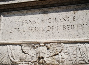 Eternal Vigilance is the Price of Liberty_Engraved Outside National Archives in Washington DC_Photo by Vincent J Bove